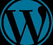 WordPress logo וורדפרס לוגו WP